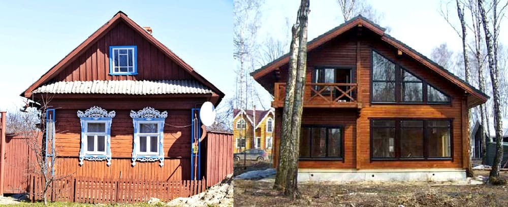 Несмотря на использование одного и того же материала, современные и старые дома из древесины существенно отличаются