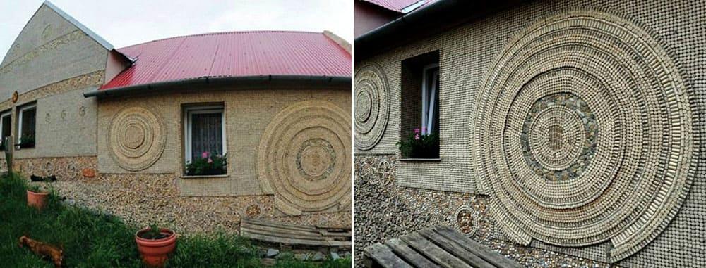 Дом из винных пробок, находится в чешском городе Мутеница, на его возведение потрачено около 180 тысяч винных пробок
