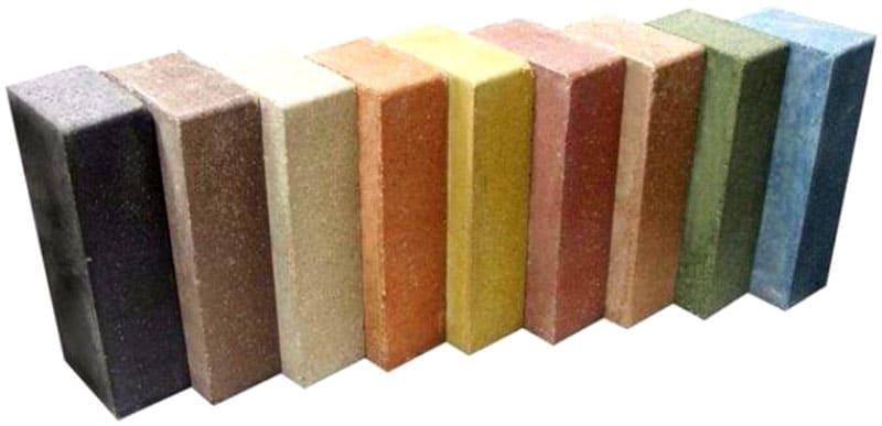 Цветной силикатный кирпич