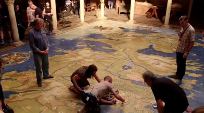 Знаменитую карту на полу королевского дворца художники рисовали несколько недель