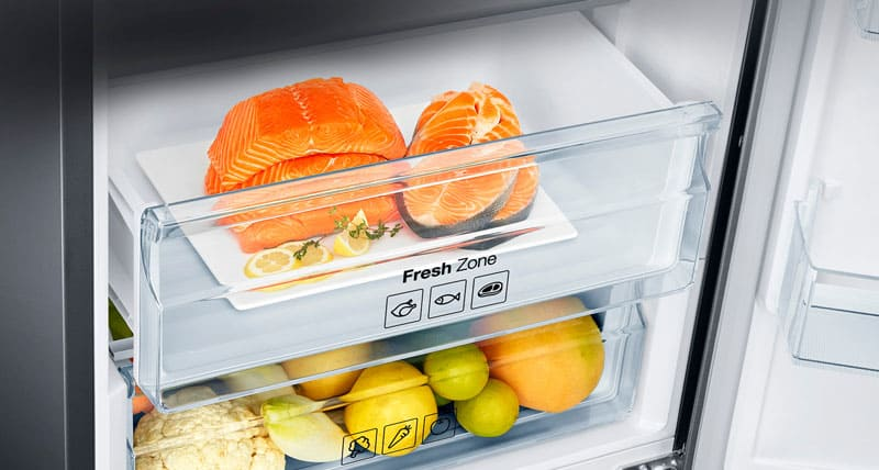 В современных моделях на контейнерах есть подсказки по оптимальному набору продуктов для хранения