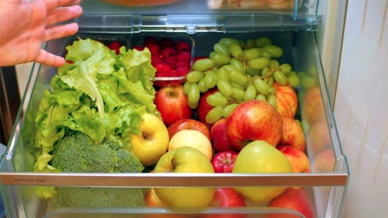 В «зоне свежести» продукты долго сохраняют свои качества