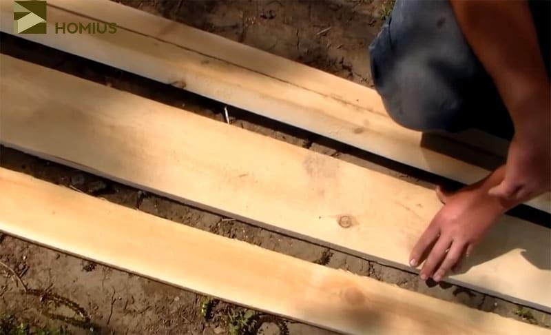 Древесина, приобретённая мной на строительном рынке для изготовления лавочки со спинкой