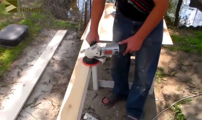 Шлифовка древесины перед началом изготовления – необязательное, но желательное действие