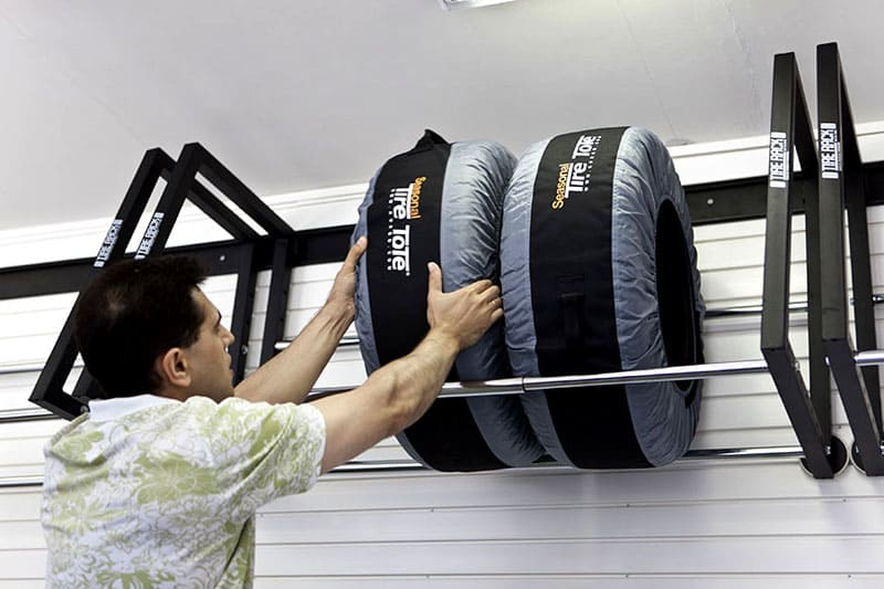 Хранение колес на специальной полке