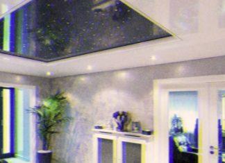 Натяжные глянцевые потолки: фото в интерьере