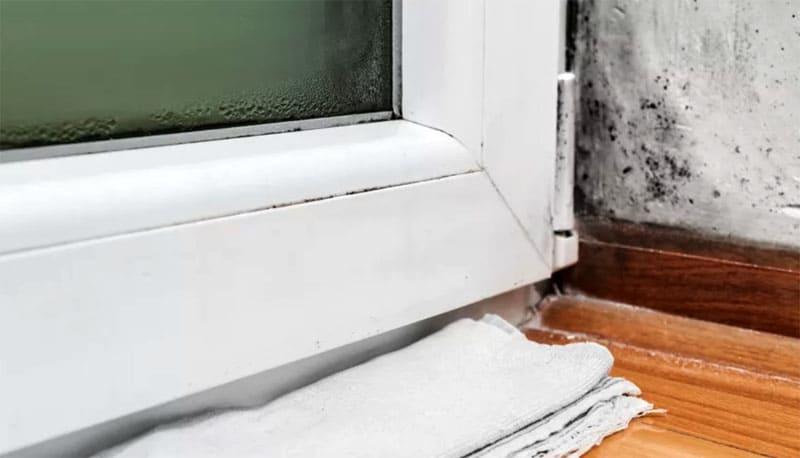 Сырость около окна приведёт не только к порче имущества, но и отразится на здоровье