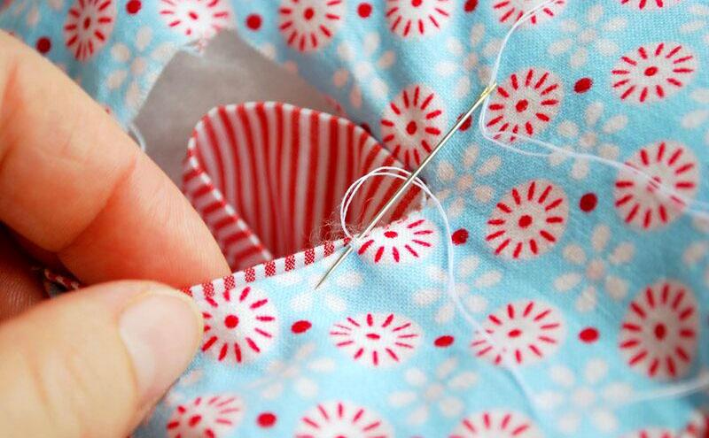 Вариант сшивания бортиков