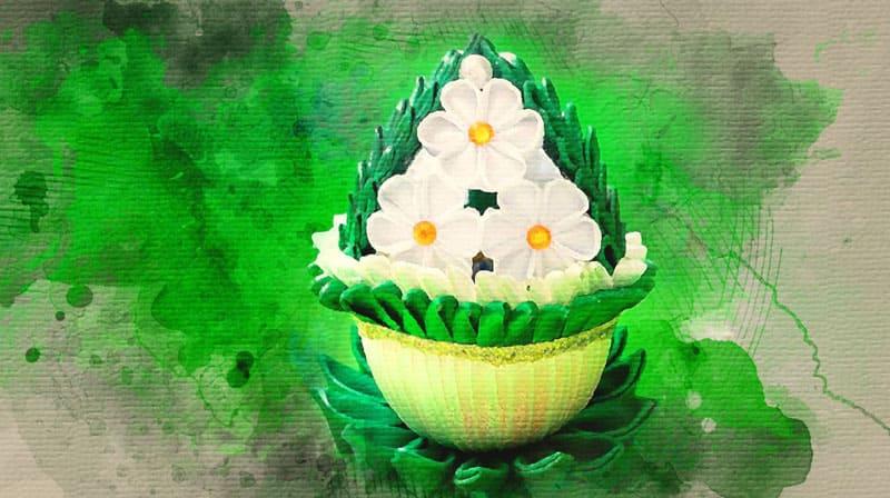 Пасхальное яйцо в технике «Канзаши»