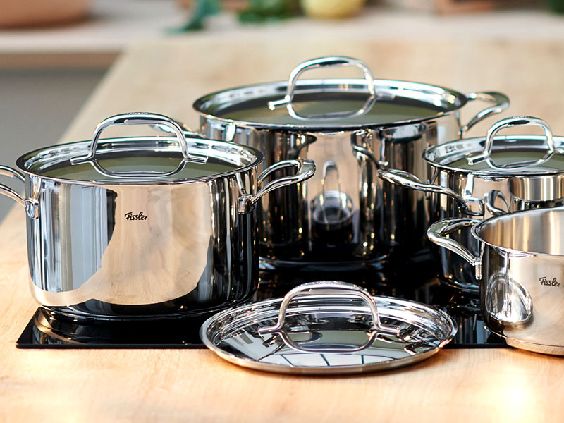 Стильная посуда из нержавейки станет настоящим украшением любой кухни