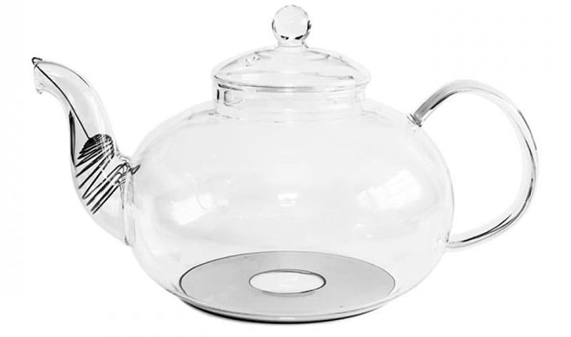 Стеклянный чайник с ферромагнитным основанием