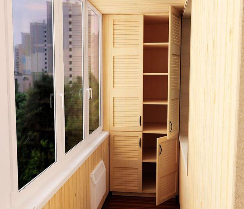 Встроенные варианты шкафов хороши тем, что занимают всё пространство от пола до потолка