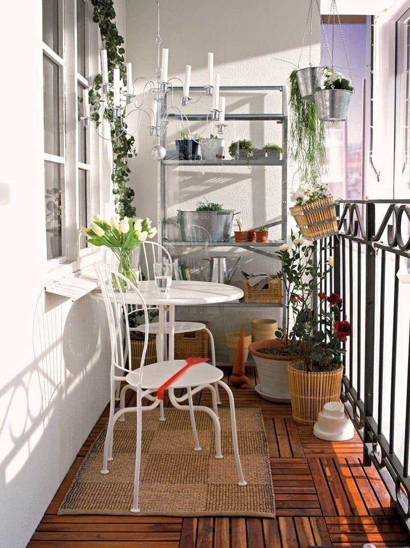 Варианты сборной мебели на балкон фирмы ИКЕА