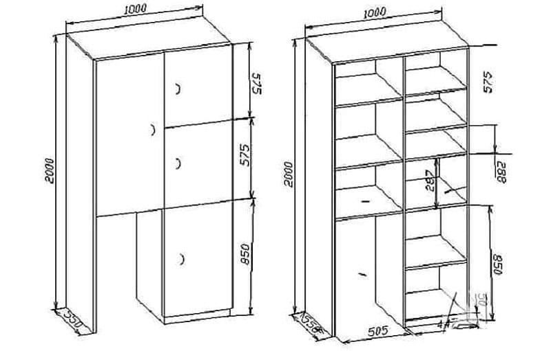 Вариант чертежа для балкона
