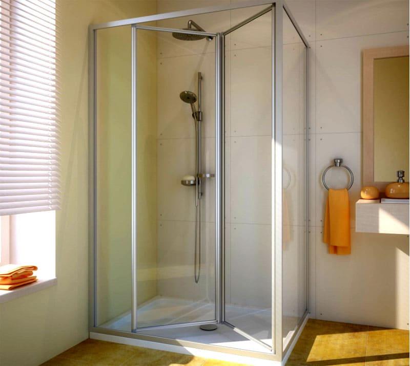 Двери-гармошка в душмогут иметь 2 и более створок
