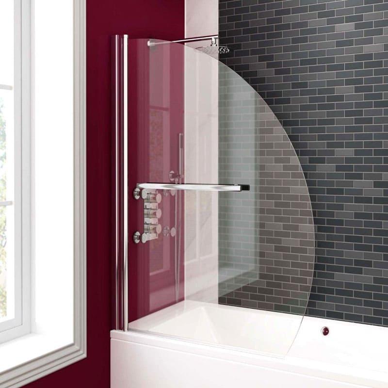 Створка из стекла станет настоящим украшением ванной комнаты