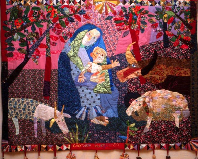 наполнен лоскутное шитье на картинах художников настоящее время