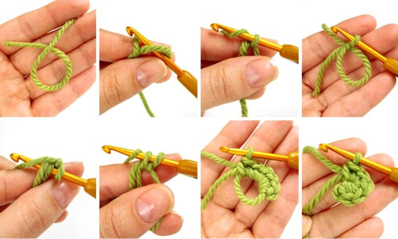 Техника вязания «волшебного кольца» амигуруми