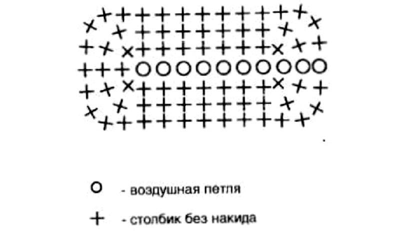 Схема для крылышка