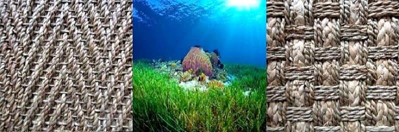 Особым украшением циновок из водорослей является разнообразное плетение