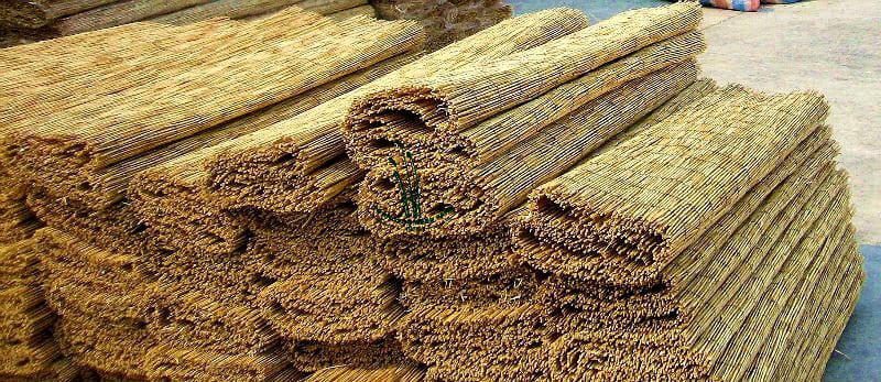 Качественное полотно из тростника прослужит более пяти лет