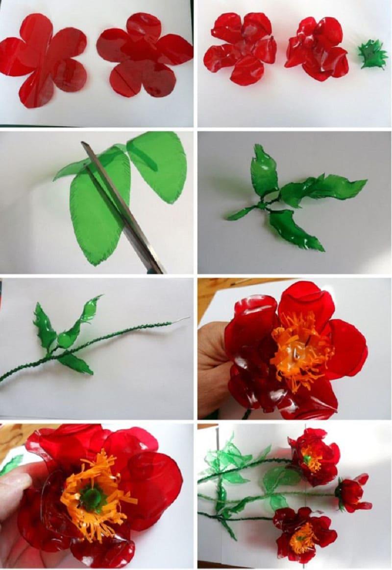 Последовательность изготовления цветка мака