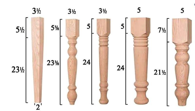 Лаконичность и простота – варианты обработки ножек в геометрическом стиле