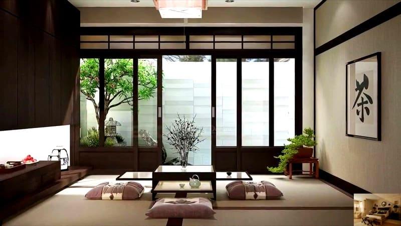 Двери должны быть раздвижными и, предпочтительно, из бамбука