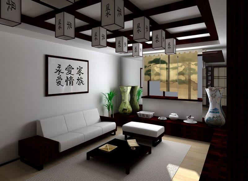 Следует грамотно сочетать деревянные, стеклянные и металлические элементы декора
