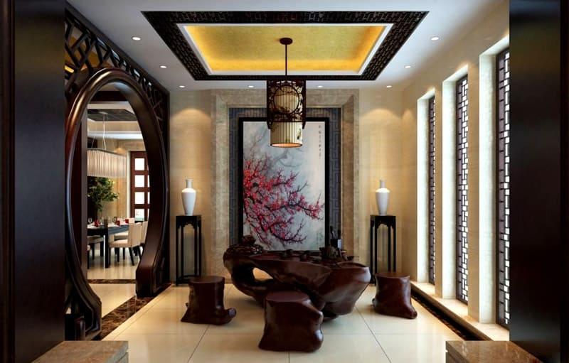 Китайский стиль изобилует красивыми перегородками и ширмами, которые могут быть как функциональными, так и просто декоративными