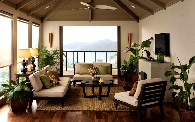 Это полноценная зона отдыха, которая обязательно оформляется удобнейшей мебелью, где можно расслабиться