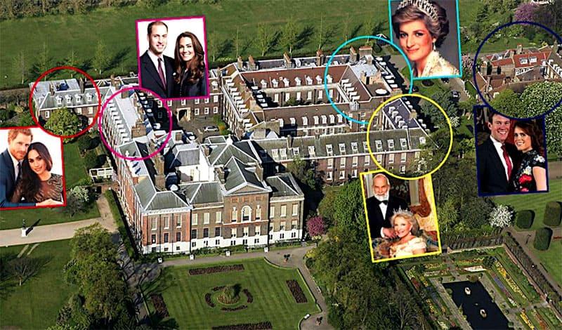 Дворцы внуков Британской королевы