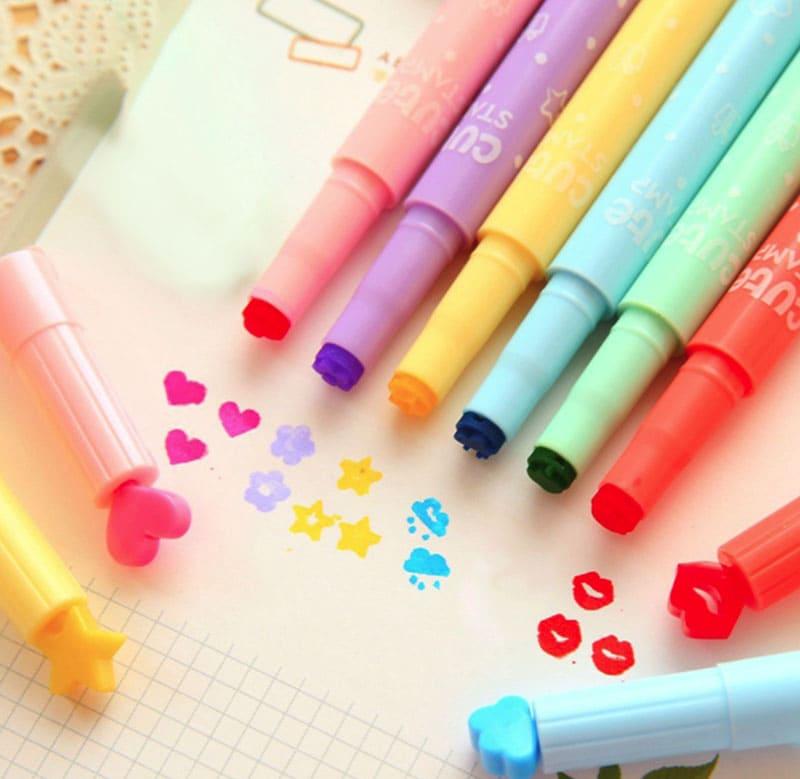 Штапмпинг маркерами для создания на страничке ярких изображений