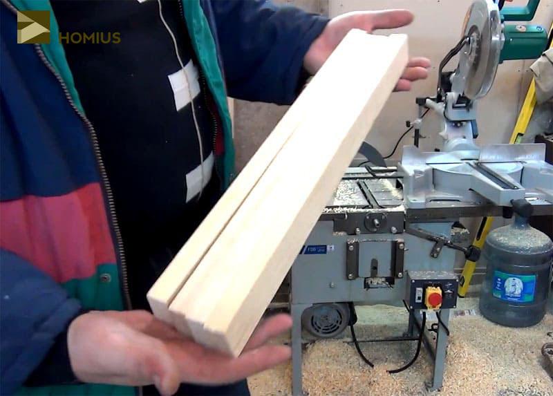 Заготовки для ножек раскладного стула