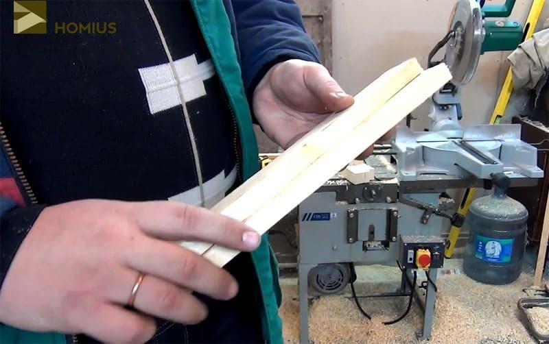 2 рейки для усиления конструкции – на мягкой почве они просто необходимы