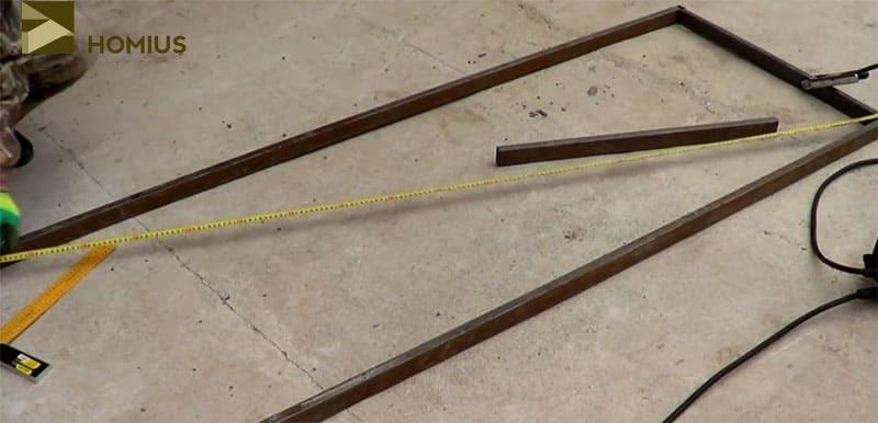 Обязательный промер диагоналей – их длина должна быть одинаковой