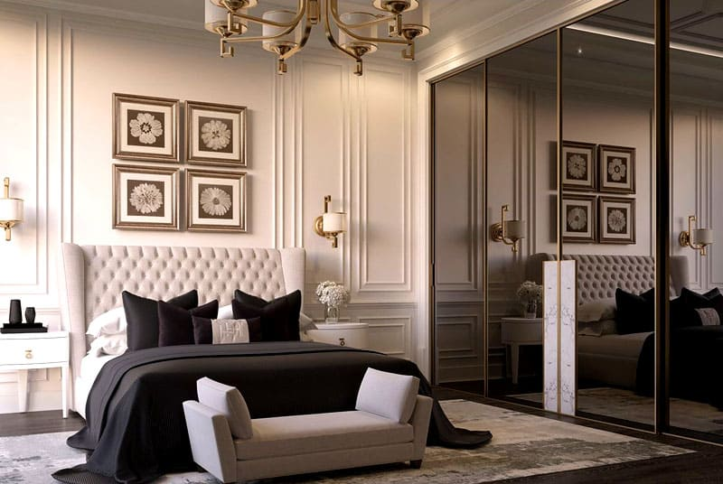 Такая спальня подойдёт романтической даме, которая привыкла к комфорту и уюту
