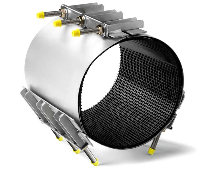 Для труб большого диаметра используются модели из оцинкованной стали