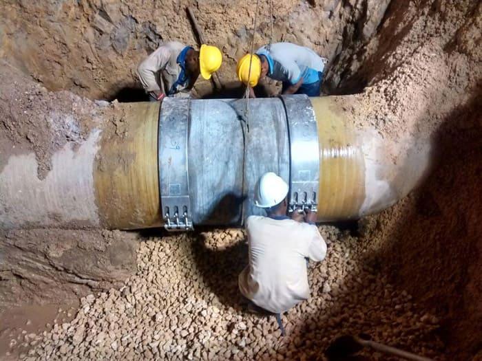 Многосоставной тип применяется для труб магистральных водопроводов