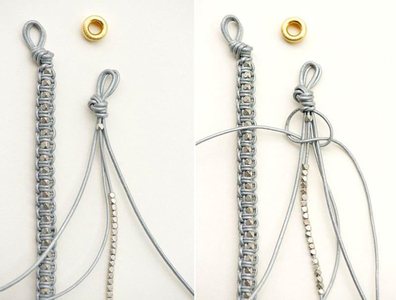 Плетение браслета с бусинами