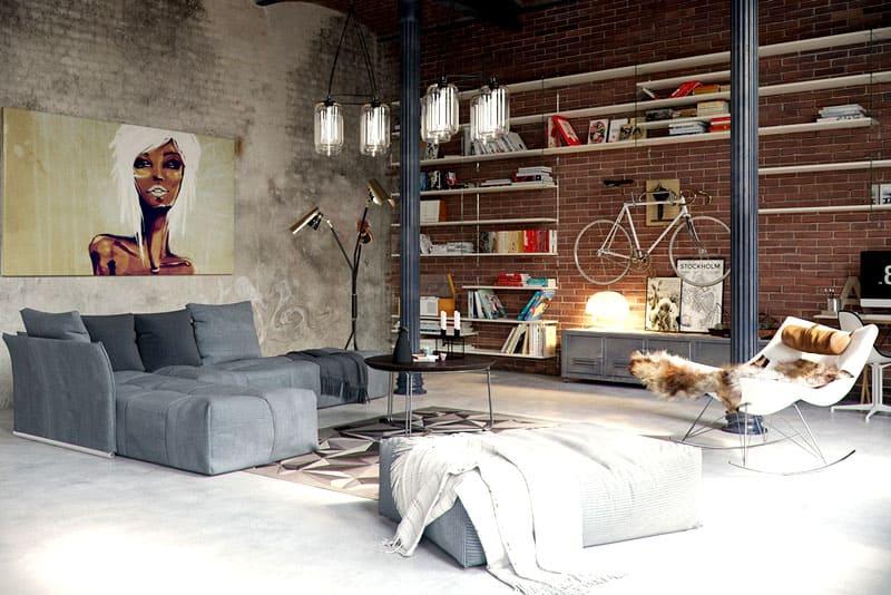 Лофт – это сочетание винтажных предметов и нестандартной мебели
