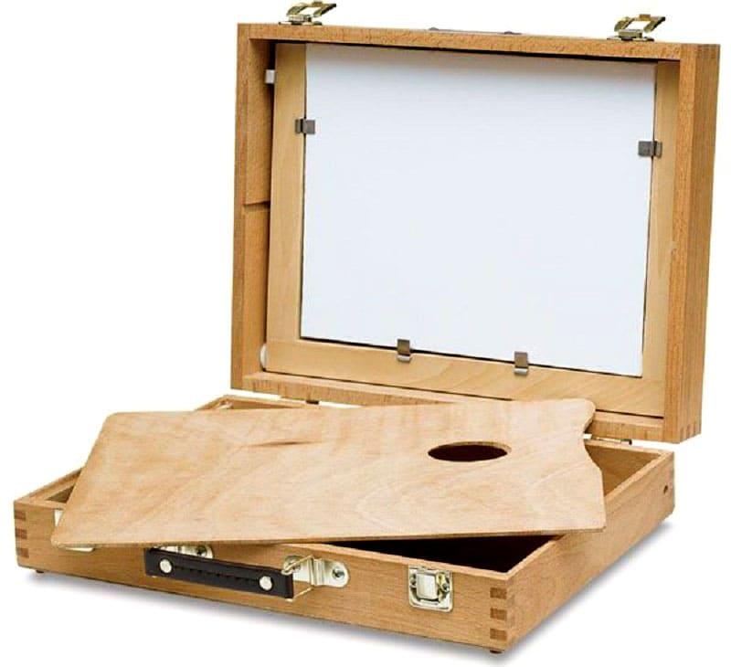 Можно на корпусе закрепить ручки и петли от чемодана