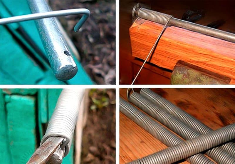 Сделать пружину можно своими руками, для этого понадобится 45 см проволоки толщиной 1,5-2,5 мм