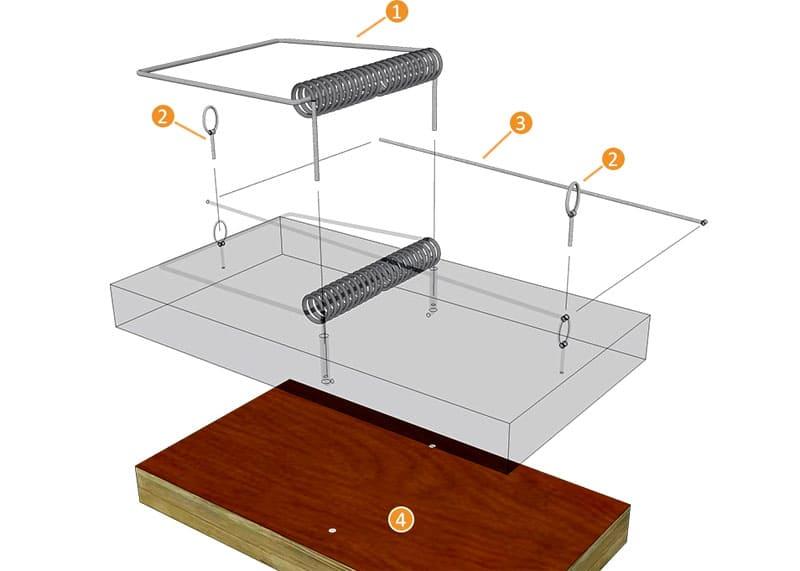 Одна из схем изготовления многоразовой мышеловки