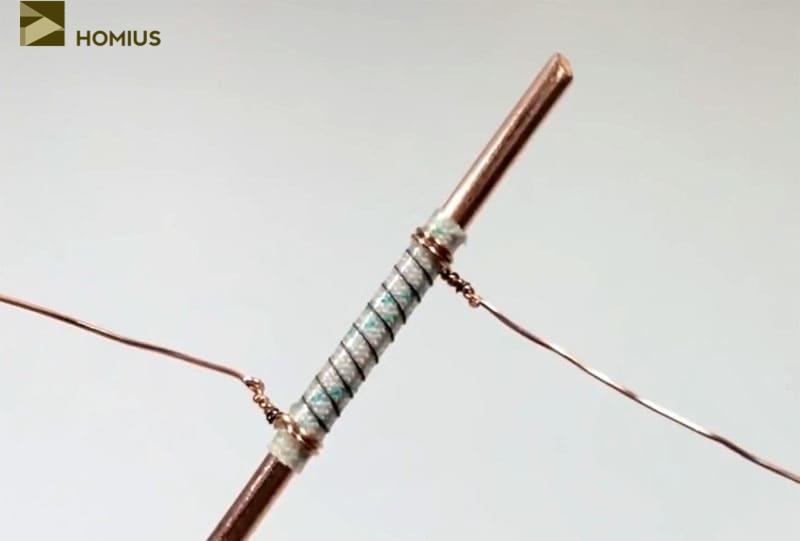 Нагревательный элемент готов, можно приступать к завершающему этапу изготовления паяльника