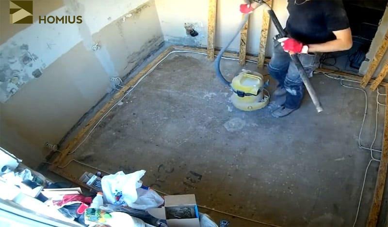 Уборка грязи и пыли с поверхности – один из наиболее важных этапов работы