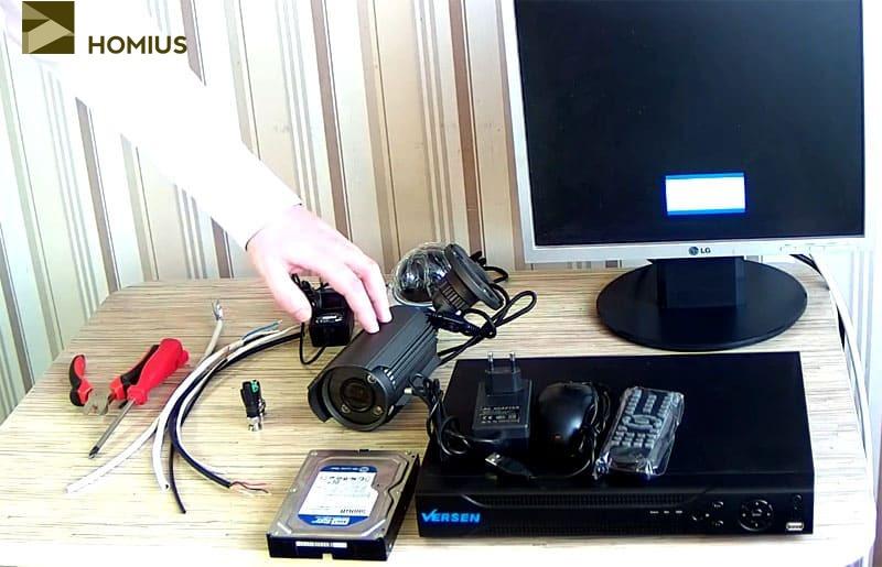 Оборудование и инструмент, который необходим для монтажа системы видеонаблюдения