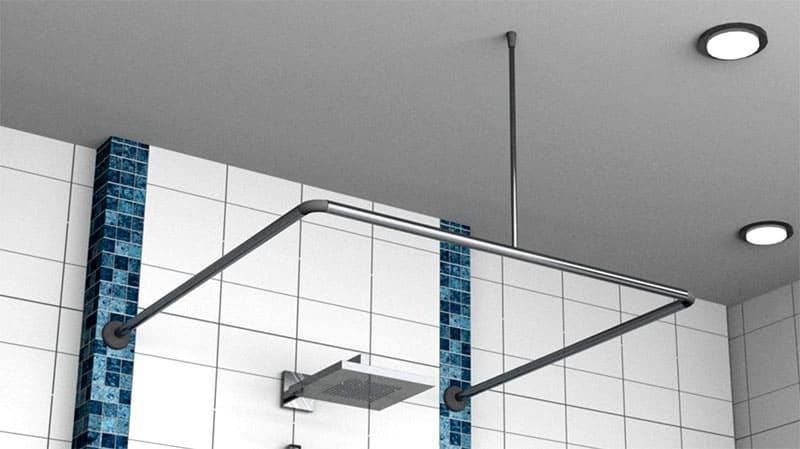Для надёжности П-образную штангу рекомендуется дополнительно крепить к потолку
