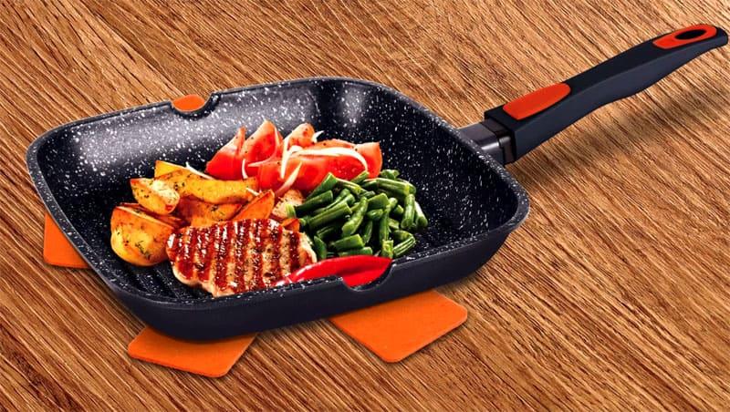 Блюда, приготовленные на каменной сковородке, гораздо вкуснее, чем на обычной
