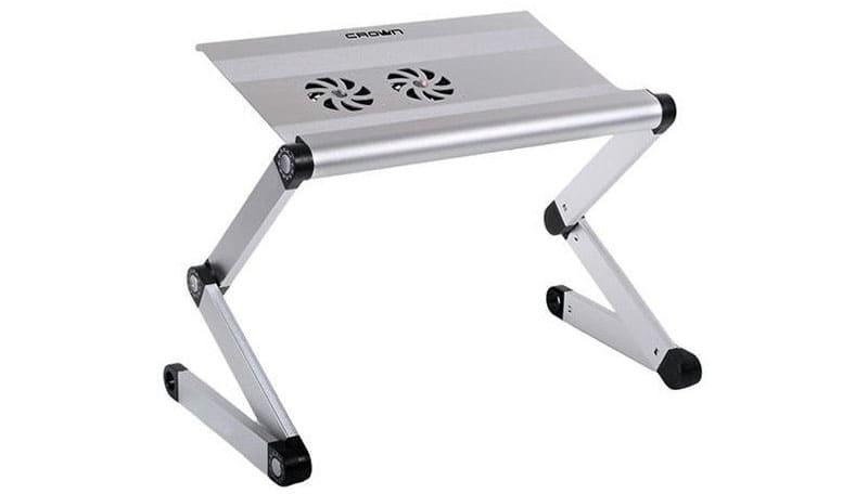 Подставка-столик под ноутбук «Crown Micro CMLS-100 (silver) 21»
